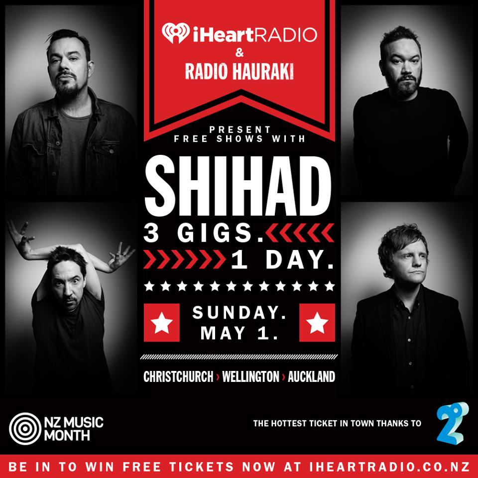 Shihad wiki 3 april 2016 shihad three shows one day malvernweather Images